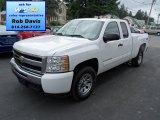 2011 Summit White Chevrolet Silverado 1500 LS Extended Cab 4x4 #70540288
