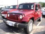 2012 Flame Red Jeep Wrangler Unlimited Sahara 4x4 #70561926