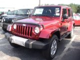 2012 Flame Red Jeep Wrangler Unlimited Sahara 4x4 #70561924