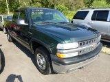 2001 Forest Green Metallic Chevrolet Silverado 1500 LS Extended Cab 4x4 #70562001