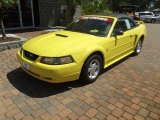 2001 Zinc Yellow Metallic Ford Mustang V6 Convertible #70570580