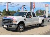 2010 White Platinum Metallic Tri-Coat Ford F350 Super Duty Lariat Crew Cab 4x4 Dually #70618520