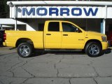 2008 Detonator Yellow Dodge Ram 1500 Sport Quad Cab 4x4 #70617810