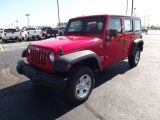 2012 Flame Red Jeep Wrangler Unlimited Sport 4x4 Right Hand Drive #70618109