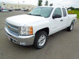 2013 Summit White Chevrolet Silverado 1500 LT Extended Cab #70618311