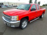 2013 Victory Red Chevrolet Silverado 1500 LT Extended Cab 4x4 #70618310
