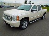 2013 White Diamond Tricoat Chevrolet Silverado 1500 LTZ Crew Cab 4x4 #70618307