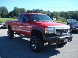 2006 Fire Red GMC Sierra 2500HD SLE Extended Cab 4x4 #70617956