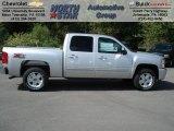 2013 Silver Ice Metallic Chevrolet Silverado 1500 LT Crew Cab 4x4 #70617927