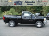 2013 Black Chevrolet Silverado 1500 LS Regular Cab 4x4 #70617922