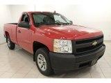 2007 Victory Red Chevrolet Silverado 1500 Work Truck Regular Cab #70618267