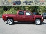 2013 Deep Ruby Metallic Chevrolet Silverado 1500 LT Crew Cab 4x4 #70617907