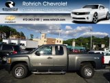 2011 Steel Green Metallic Chevrolet Silverado 1500 LS Extended Cab 4x4 #70687943