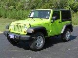 2012 Gecko Green Jeep Wrangler Sport S 4x4 #70687922