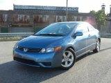 2007 Atomic Blue Metallic Honda Civic EX Coupe #70687836