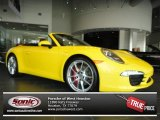 2012 Speed Yellow Porsche 911 Carrera S Cabriolet #70687499