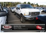 2004 Oxford White Ford F250 Super Duty Lariat Crew Cab 4x4 #70687107