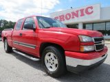 2006 Victory Red Chevrolet Silverado 1500 LT Extended Cab #70748980