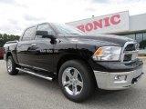 2012 Black Dodge Ram 1500 Big Horn Crew Cab 4x4 #70748970