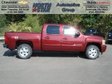 2013 Deep Ruby Metallic Chevrolet Silverado 1500 LT Crew Cab 4x4 #70748904