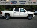 2013 White Diamond Tricoat Chevrolet Silverado 1500 LTZ Crew Cab 4x4 #70748903