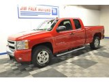 2007 Victory Red Chevrolet Silverado 1500 LT Extended Cab 4x4 #70749541