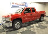 2013 Victory Red Chevrolet Silverado 1500 LS Extended Cab 4x4 #70749539