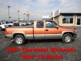 2001 Sunset Orange Metallic Chevrolet Silverado 1500 LS Extended Cab 4x4 #70749537