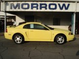 2002 Zinc Yellow Ford Mustang V6 Coupe #70748846