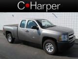 2012 Graystone Metallic Chevrolet Silverado 1500 Work Truck Extended Cab 4x4 #70749494