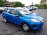 2013 Blue Candy Ford Fiesta SE Sedan #70818410