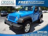 2011 Cosmos Blue Jeep Wrangler Sport 4x4 #70818812