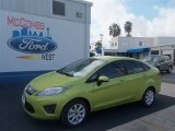 2013 Lime Squeeze Ford Fiesta SE Sedan #70818330