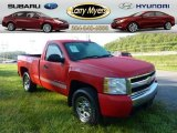 2008 Victory Red Chevrolet Silverado 1500 LS Regular Cab 4x4 #70819111