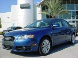 2008 Ocean Blue Pearl Effect Audi A4 2.0T Special Edition Sedan #706167