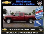 2013 Deep Ruby Metallic Chevrolet Silverado 1500 LT Extended Cab 4x4 #70819089
