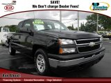 2007 Black Chevrolet Silverado 1500 Classic Work Truck Extended Cab #70819025