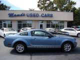 2007 Windveil Blue Metallic Ford Mustang V6 Deluxe Coupe #70818619