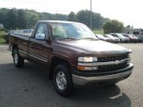 2000 Dark Carmine Red Metallic Chevrolet Silverado 1500 LS Regular Cab 4x4 #70818513