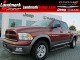 2011 Deep Cherry Red Crystal Pearl Dodge Ram 1500 SLT Outdoorsman Crew Cab 4x4 #70818482