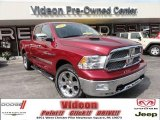 2011 Deep Cherry Red Crystal Pearl Dodge Ram 1500 Laramie Quad Cab 4x4 #70893925
