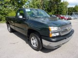 2004 Dark Green Metallic Chevrolet Silverado 1500 Regular Cab 4x4 #70893909