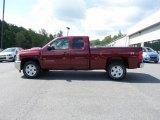 2013 Deep Ruby Metallic Chevrolet Silverado 1500 LT Extended Cab 4x4 #70893779