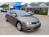 2007 Galaxy Gray Metallic Honda Civic LX Coupe #7056459