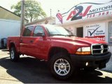 2004 Flame Red Dodge Dakota SXT Quad Cab 4x4 #70893843