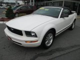2007 Performance White Ford Mustang V6 Deluxe Convertible #70925904