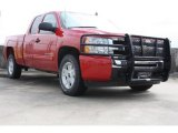 2010 Victory Red Chevrolet Silverado 1500 LT Extended Cab 4x4 #70926075