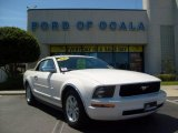 2007 Performance White Ford Mustang V6 Deluxe Convertible #7061215