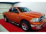 2010 Sunburst Orange Pearl Dodge Ram 1500 Lone Star Quad Cab 4x4 #70963252