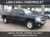 2008 Dark Blue Metallic Chevrolet Silverado 1500 LT Extended Cab 4x4 #70963248